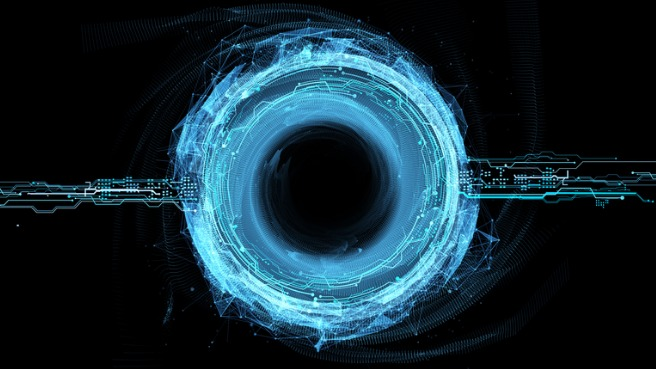 power-circle-hologram-picture-id867363820